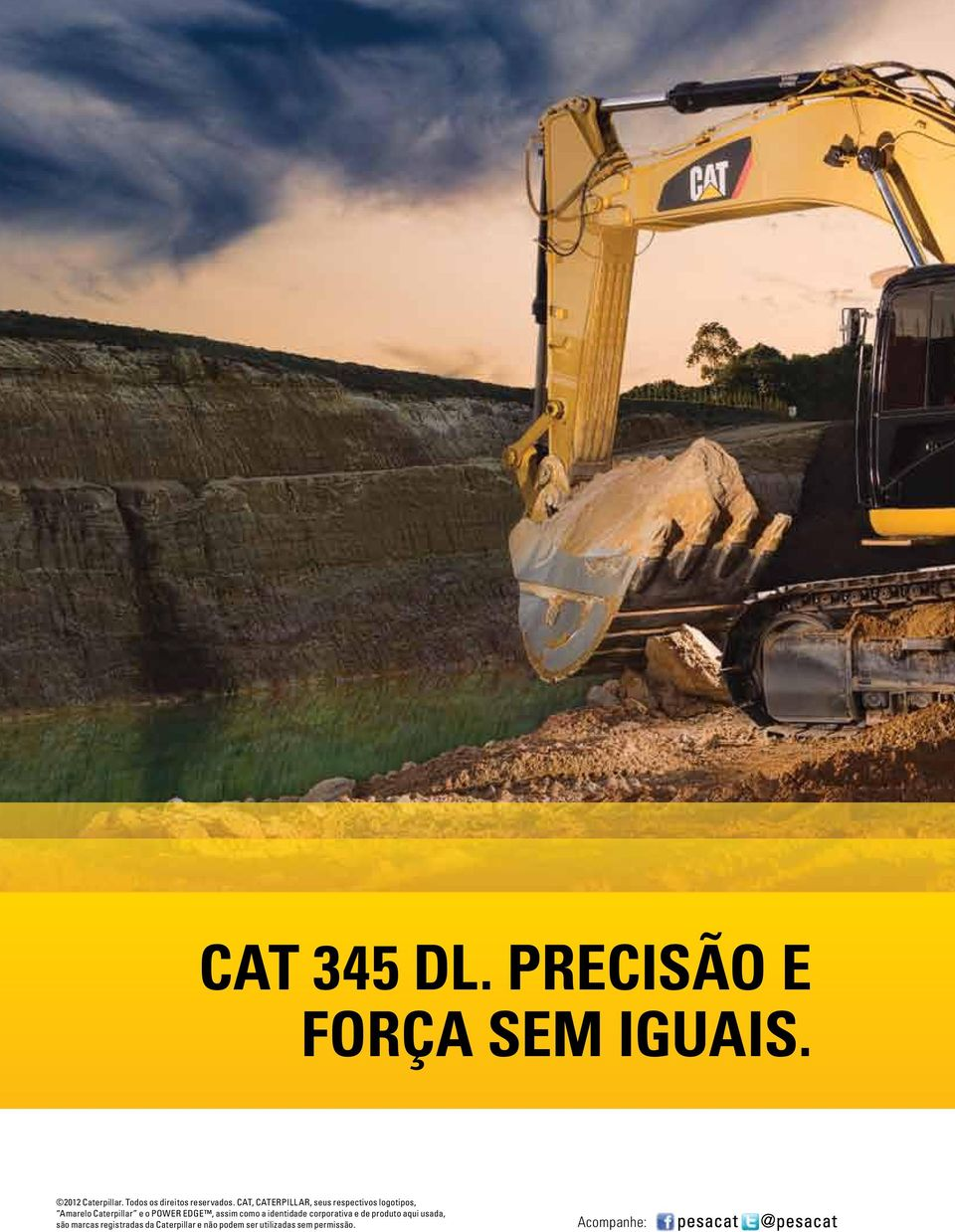 CAT, CATERPILLAR, seus respectivos logotipos, Amarelo Caterpillar e o POWER