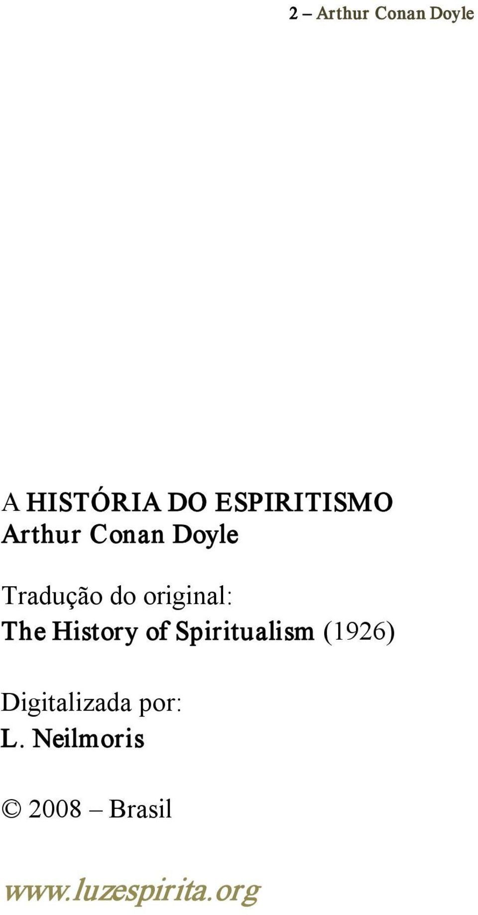 History of Spiritualism (1926) Digitalizada
