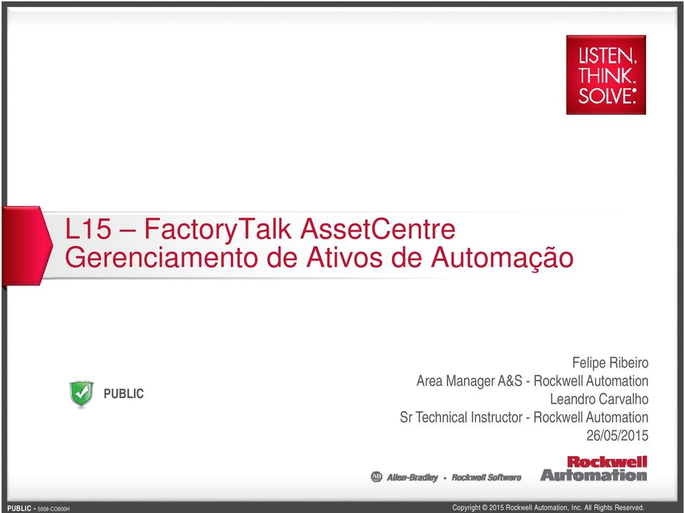 A&S - Rockwell Automation Leandro Carvalho Sr