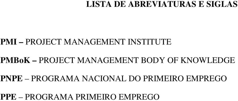 BODY OF KNOWLEDGE PNPE PROGRAMA NACIONAL DO
