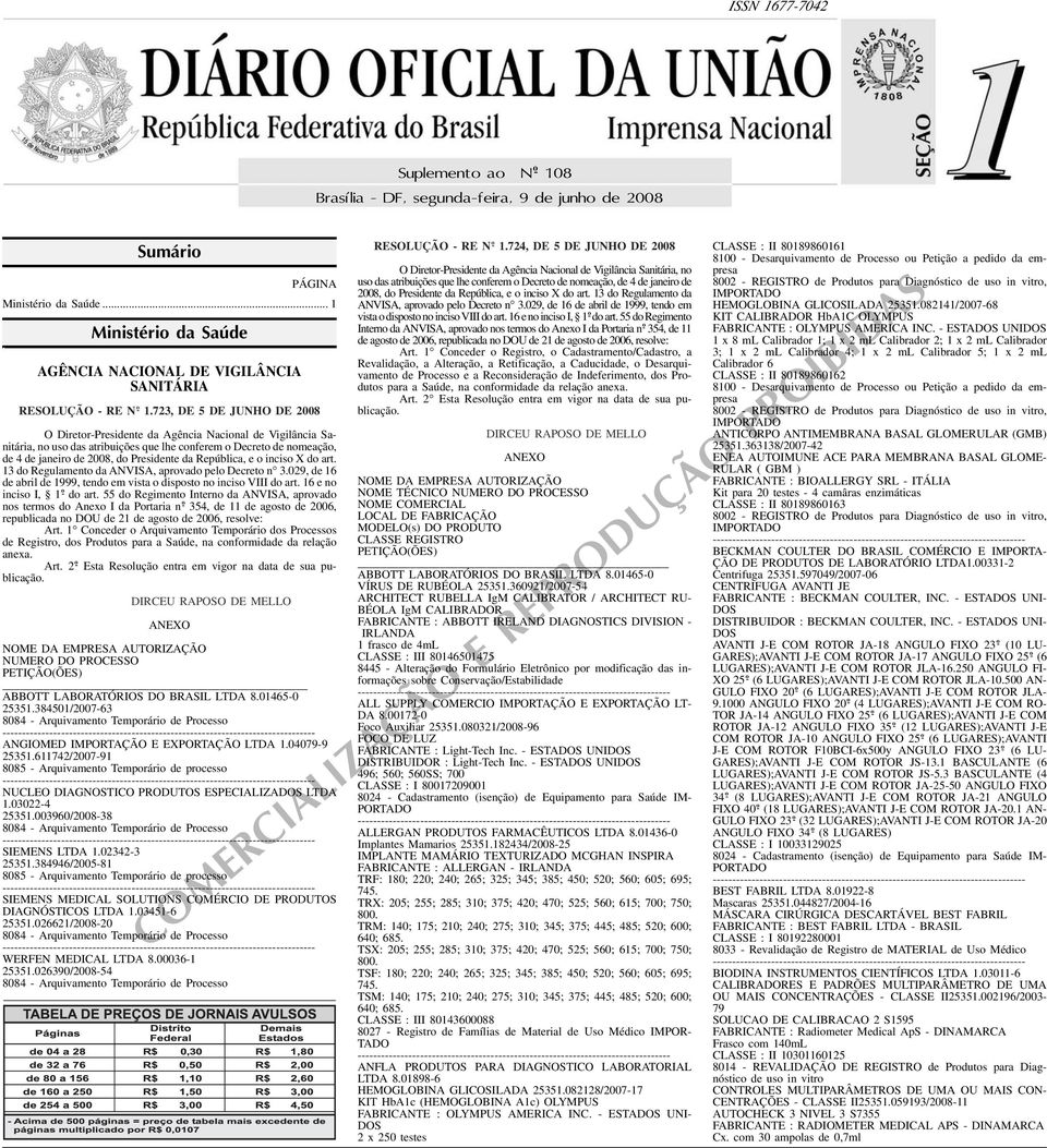 Presidente da República, e o inciso X do art 13 do Regulamento da ANVISA, aprovado pelo Decreto n 3029, de 16 de abril de 1999, tendo em vista o disposto no inciso VIII do art 16 e no inciso I, 1 o -