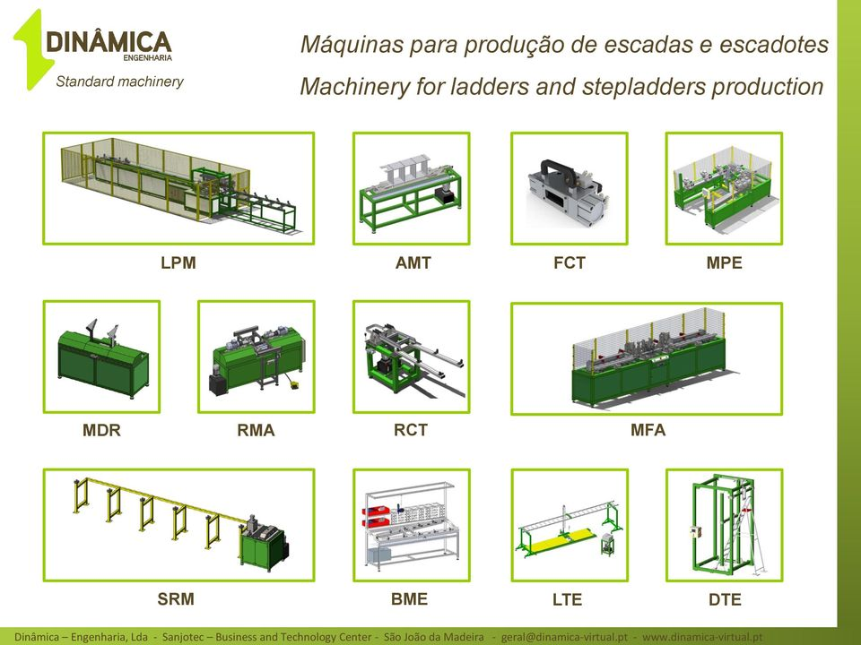 Machinery for ladders and stepladders