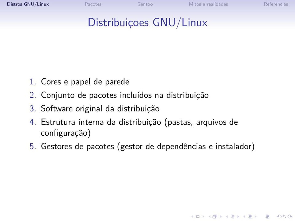 Software original da distribuição 4.