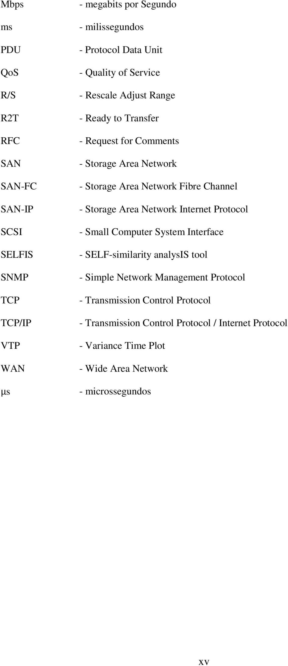 Channel - Storage Area Network Internet Protocol - Small Computer System Interface - SELF-similarity analysis tool - Simple Network Management