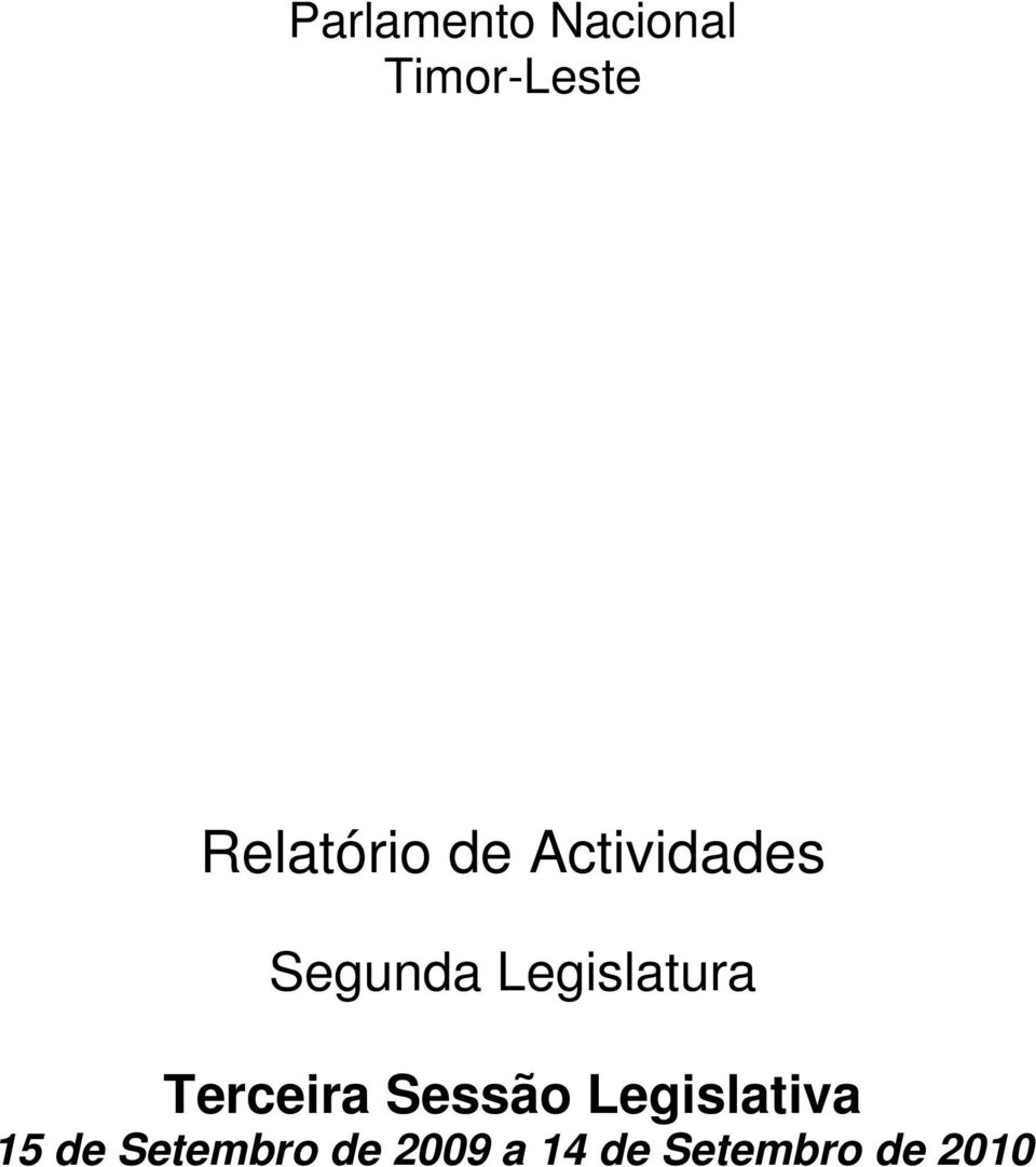 Legislatura Terceira Sessão