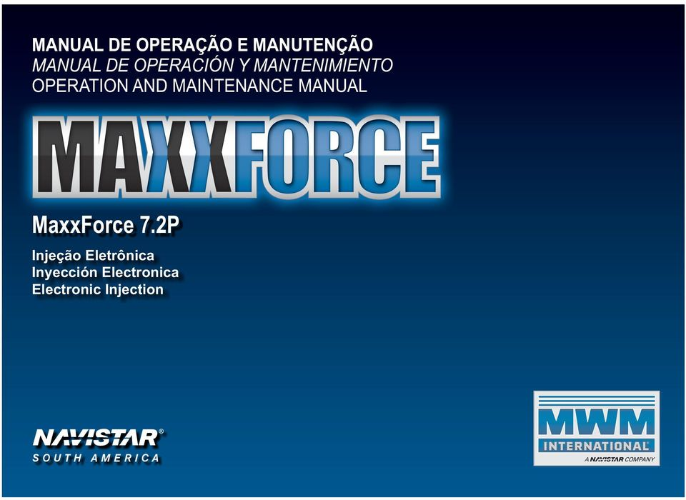 MAINTENANCE MANUAL MaxxForce 7.