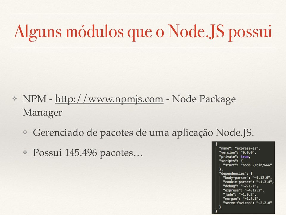 com - Node Package Manager Gerenciado