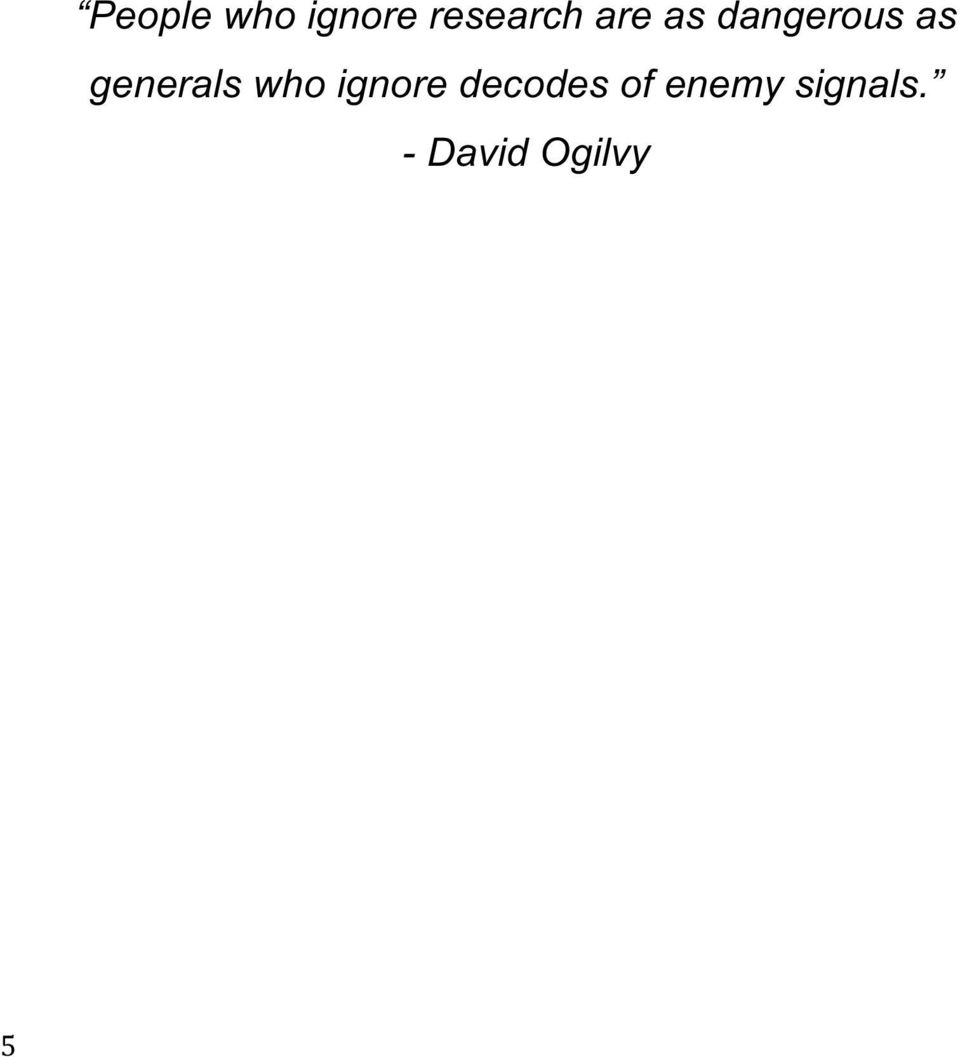 generals who ignore decodes