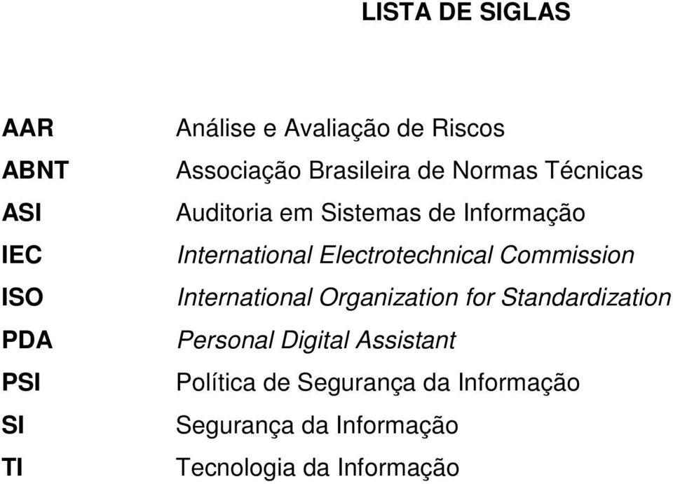 International Electrotechnical Commission International Organization for Standardization