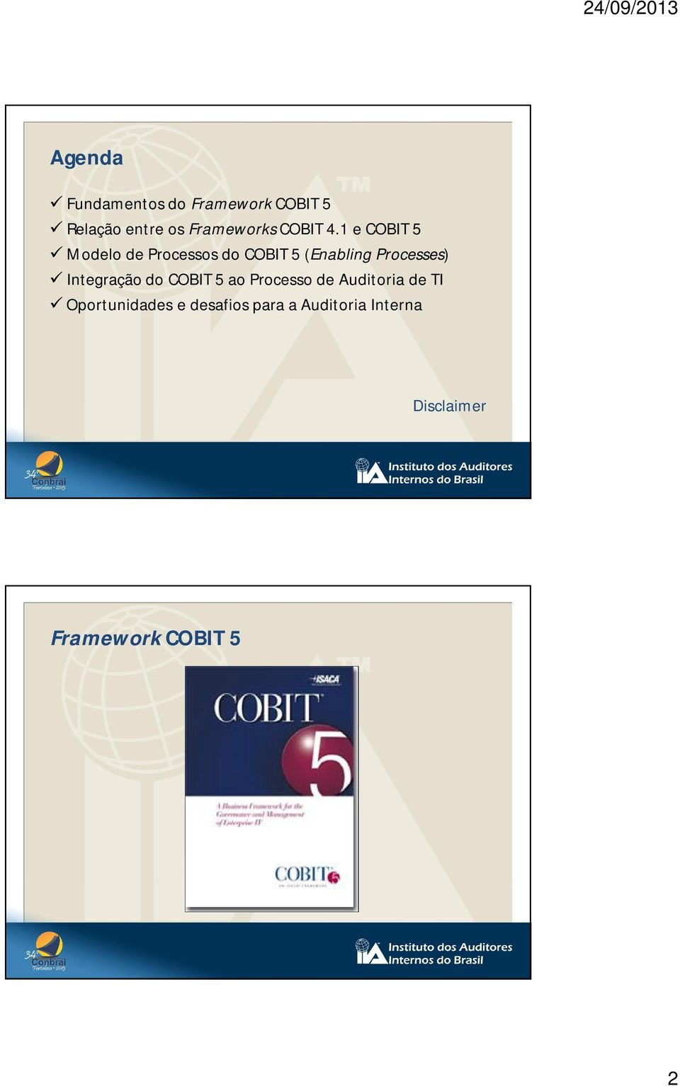 1 e COBIT 5 Modelo de Processos do COBIT 5 (Enabling Processes)