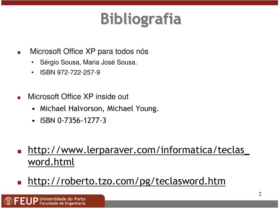 ISBN 972-722-257-9 Microsoft Office XP inside out Michael Halvorson,