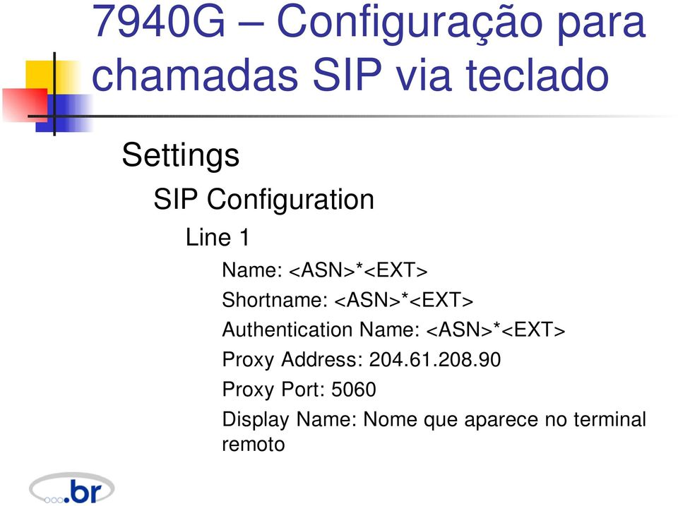Authentication Name: <ASN>*<EXT> Proxy Address: 204.61.208.