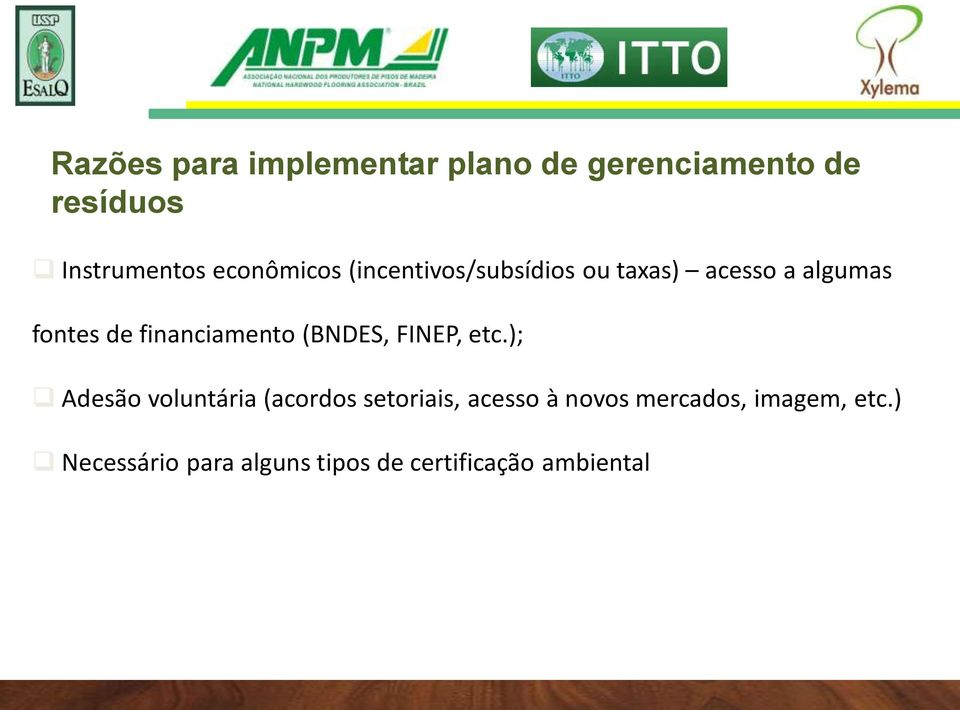 financiamento (BNDES, FINEP, etc.