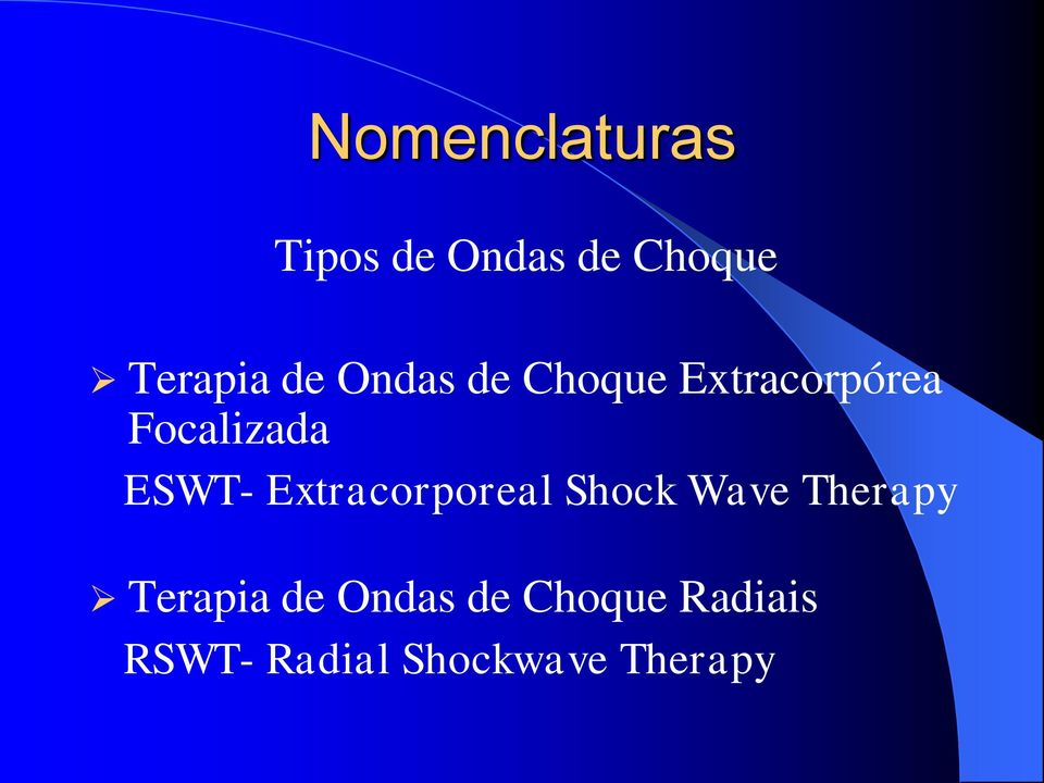 ESWT- Extracorporeal Shock Wave Therapy Terapia