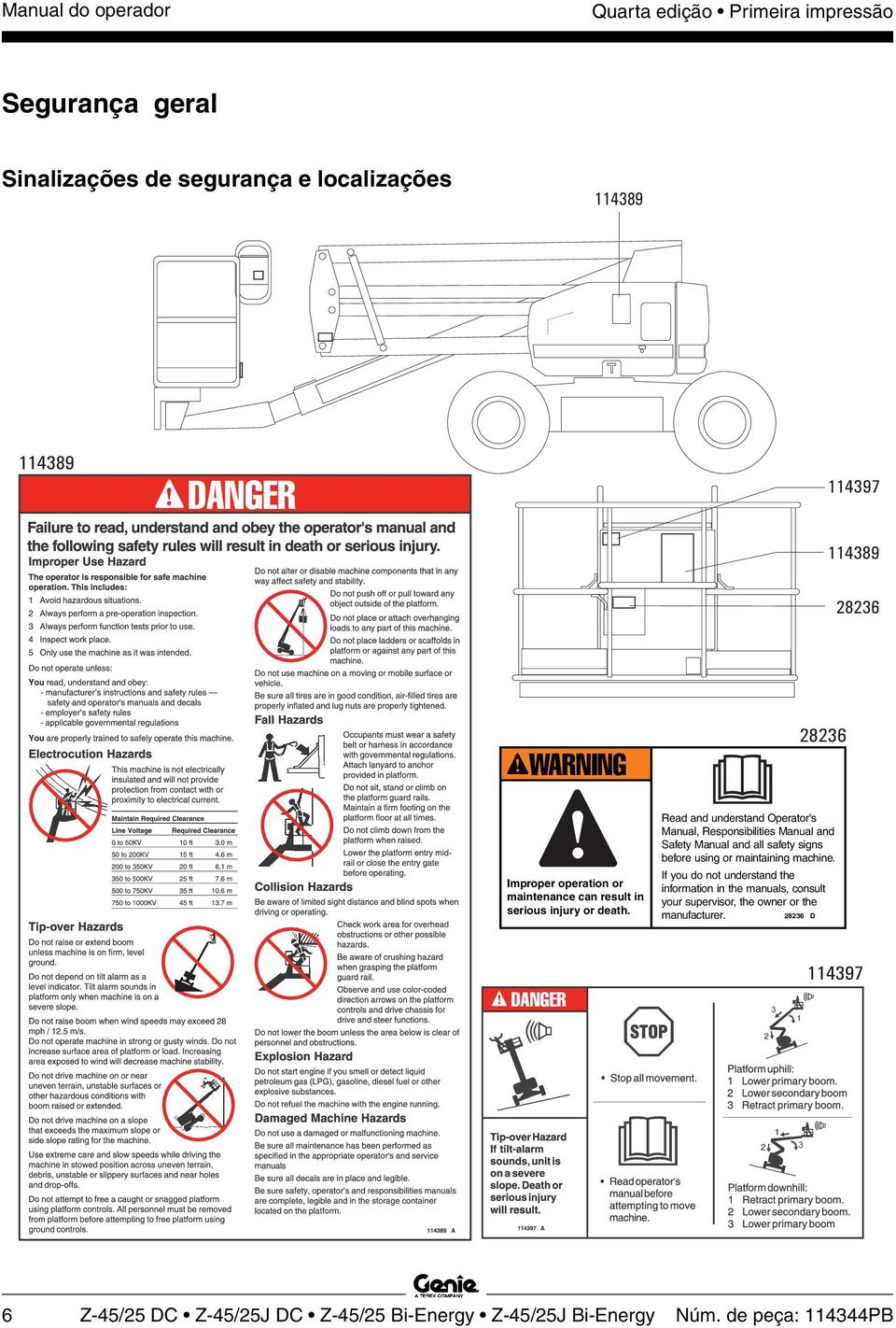 Read and understand Operator's Manual, Responsibilities Manual and Safety Manual and all safety signs before using or maintaining machine.