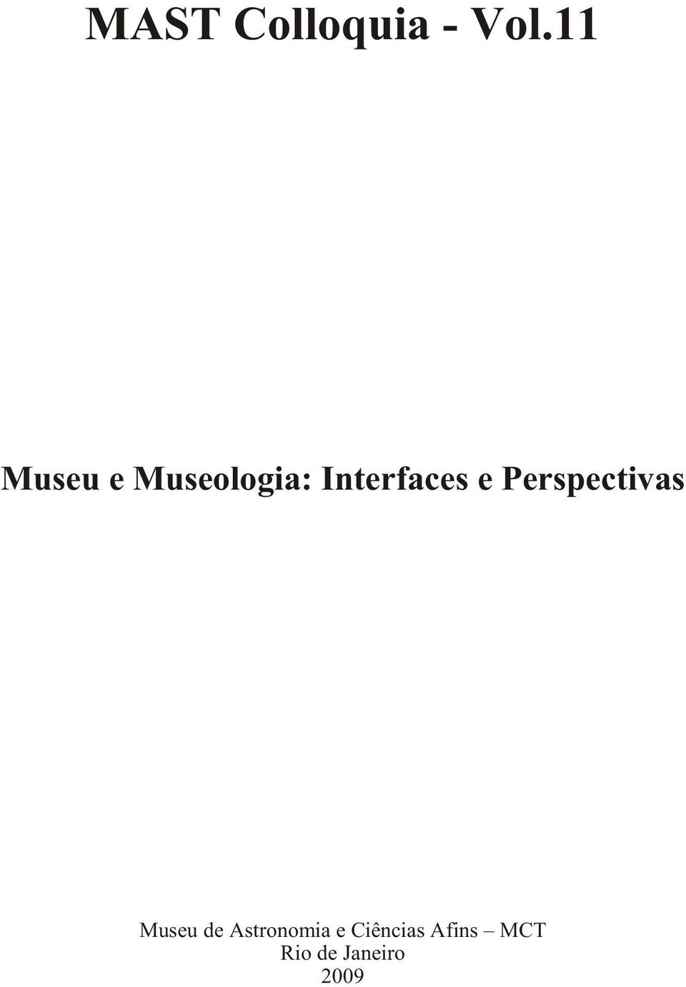 Interfaces e Perspectivas Museu