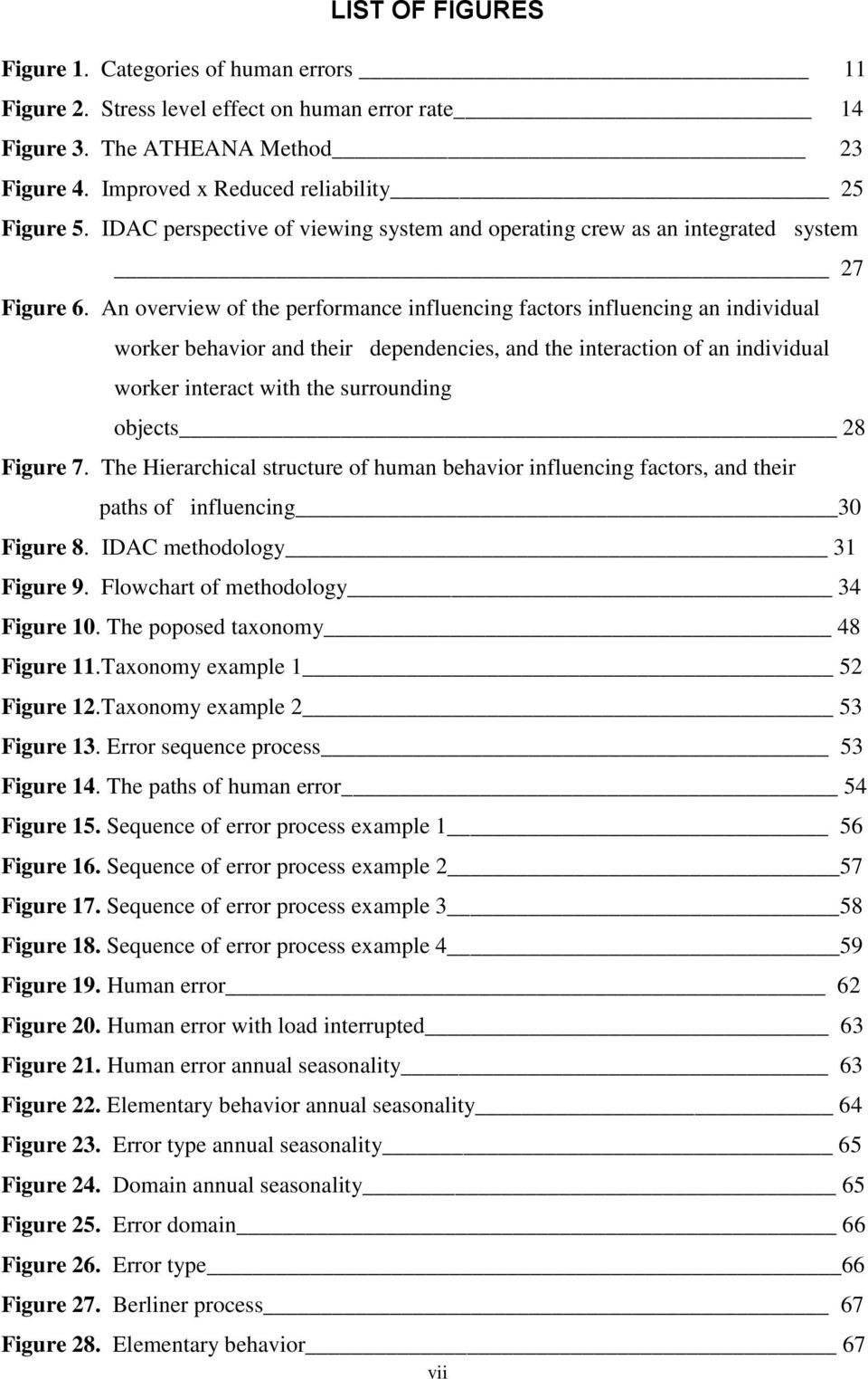 An overview of the performance influencing factors influencing an individual worker behavior and their dependencies, and the interaction of an individual worker interact with the surrounding objects