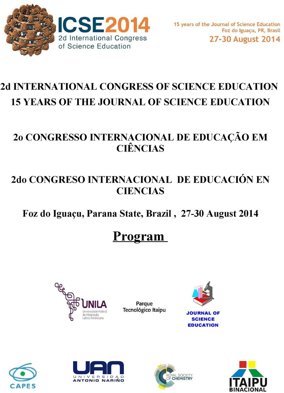 2do CONGRESO INTERNACIONAL DE EDUCACIÓN EN CIENCIAS Foz do Iguaçu,