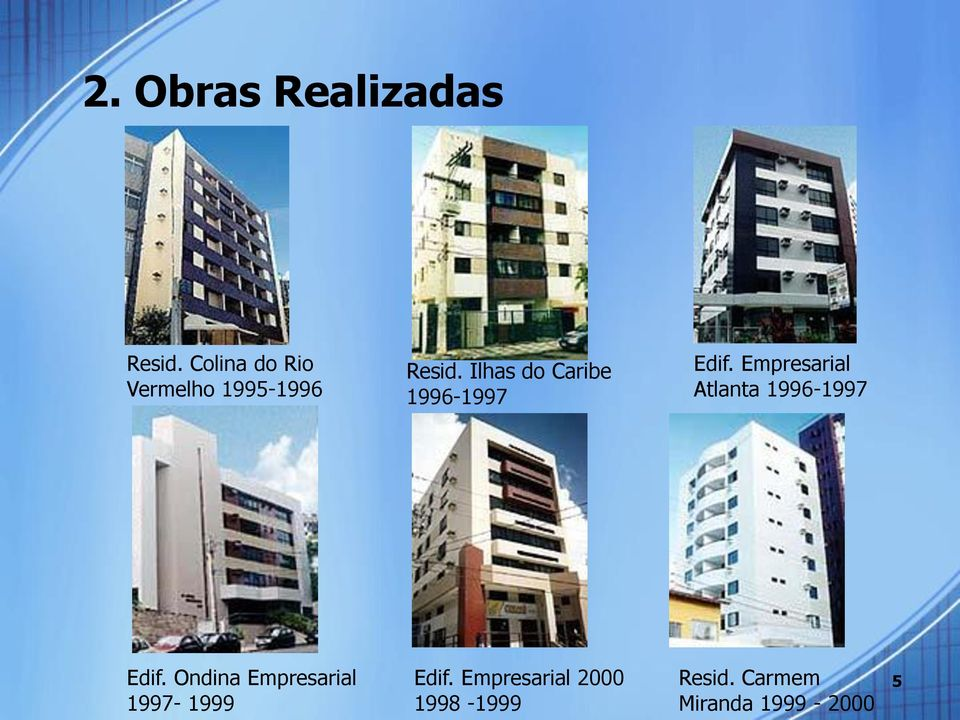 Ilhas do Caribe 1996-1997 Edif.