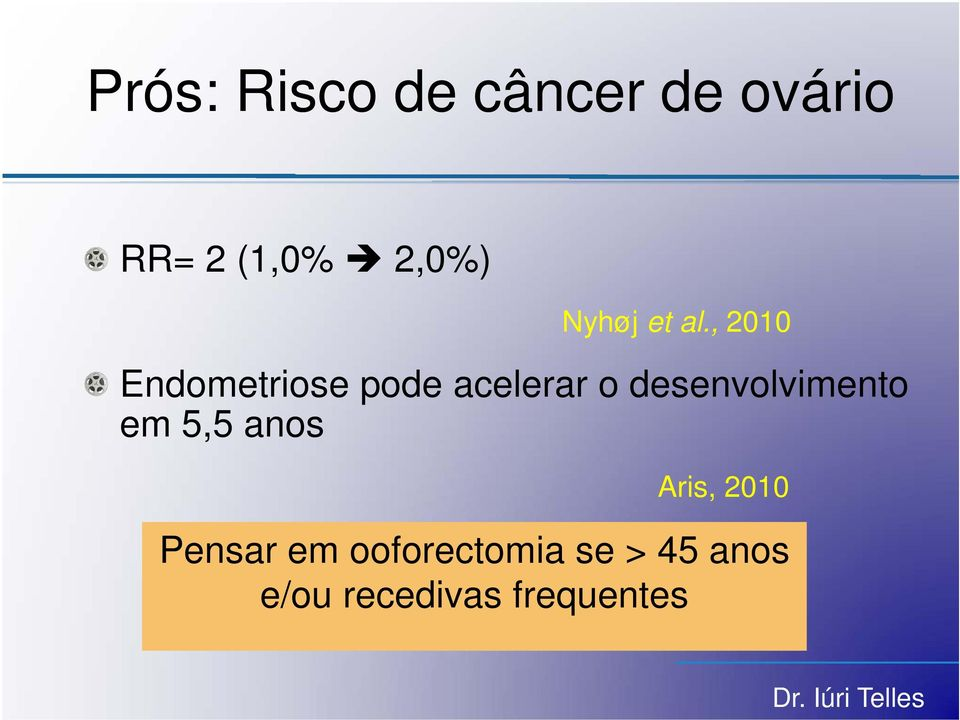 , 2010 Endometriose pode acelerar o