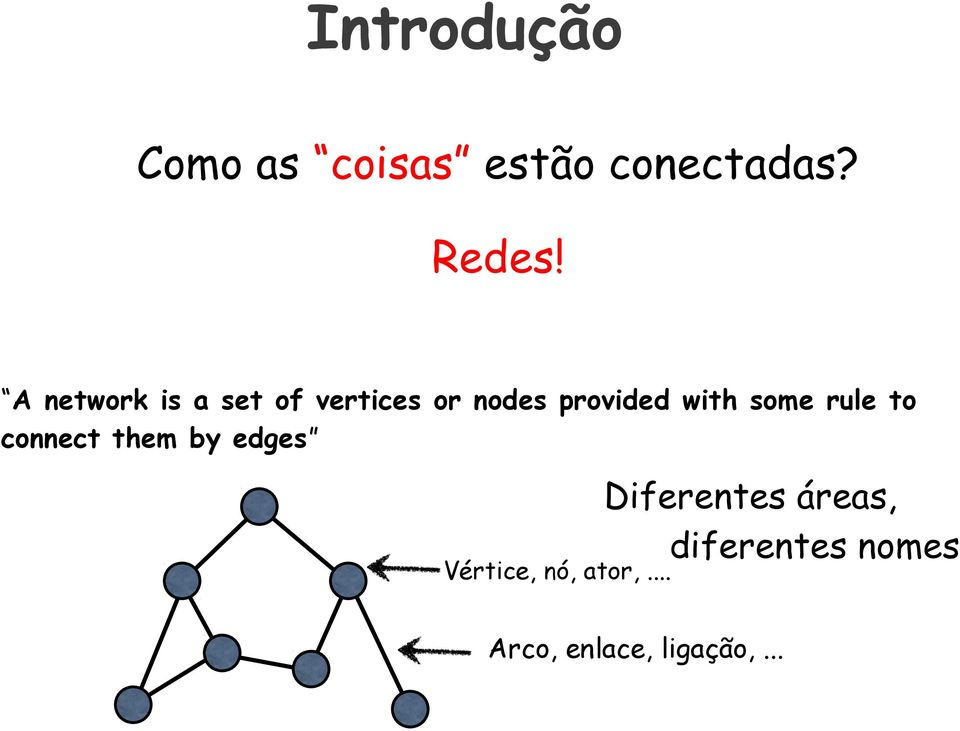 some rule to connect them by edges Diferentes áreas,