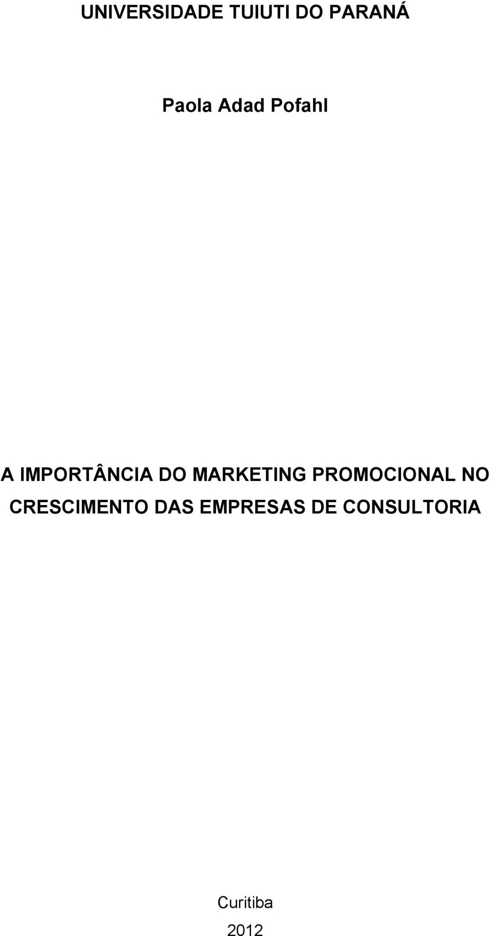 MARKETING PROMOCIONAL NO