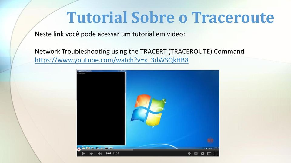 Troubleshooting using the TRACERT (TRACEROUTE)