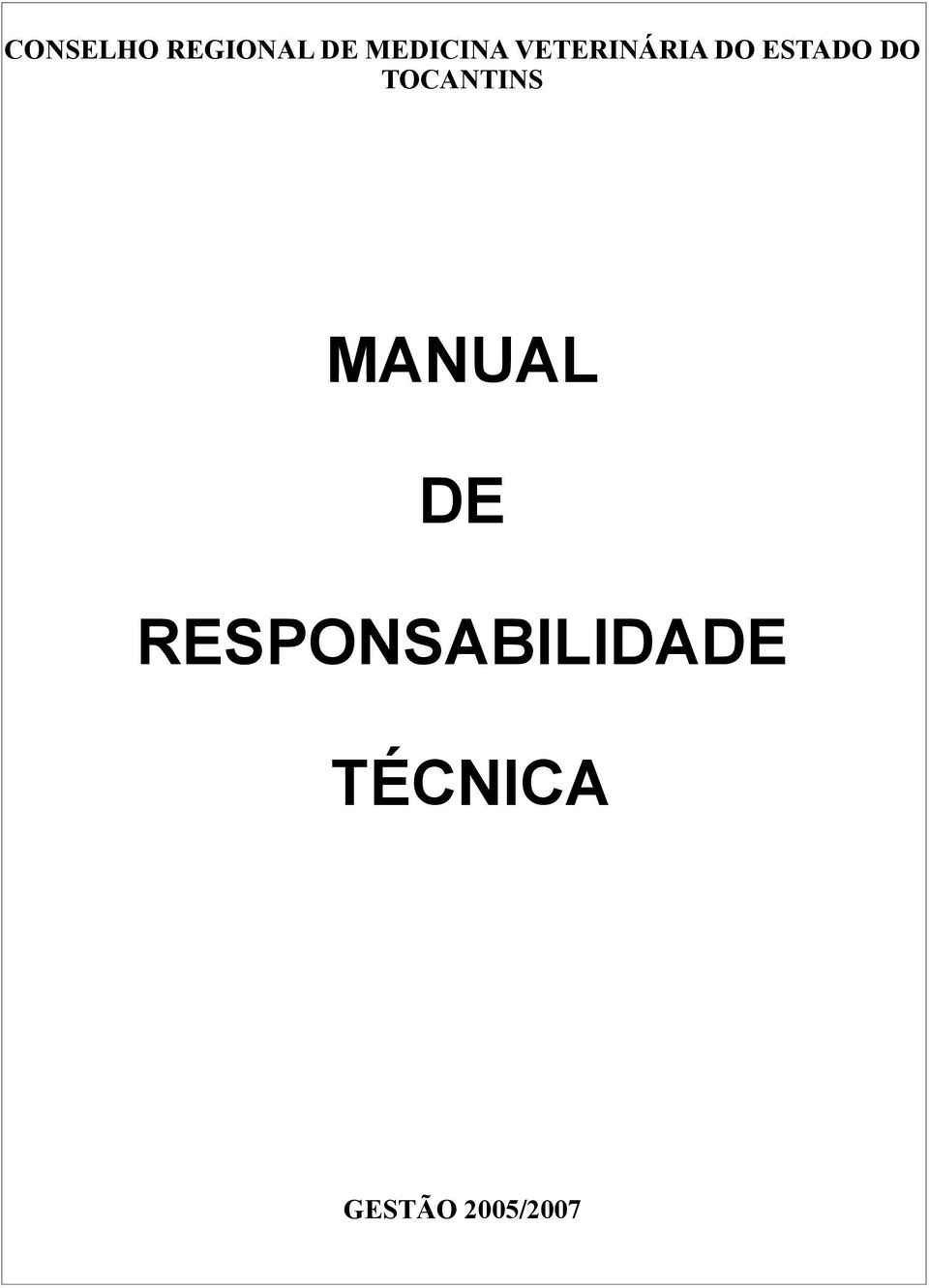 ESTADO DO TOCANTINS MANUAL