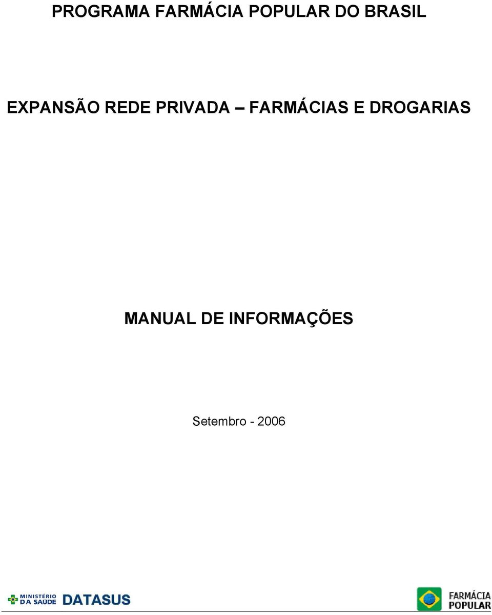 FARMÁCIAS E DROGARIAS MANUAL