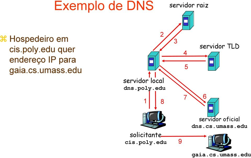 edu servidor local dns.poly.