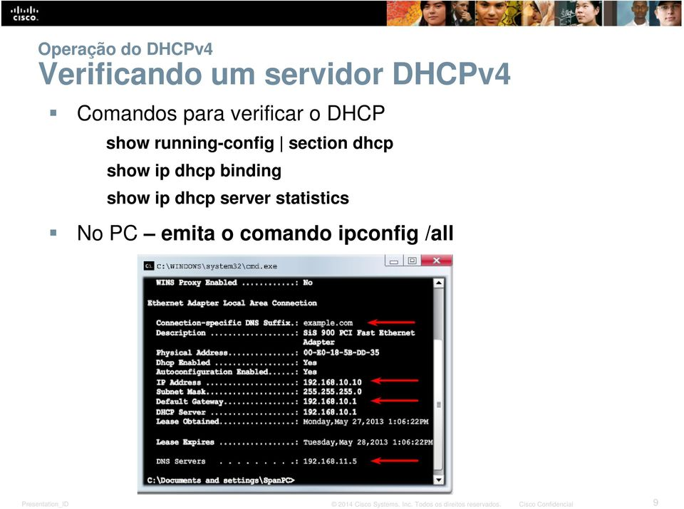 section dhcp show ip dhcp binding show ip dhcp server