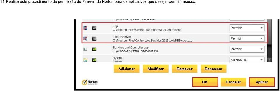 Firewall do Norton para os