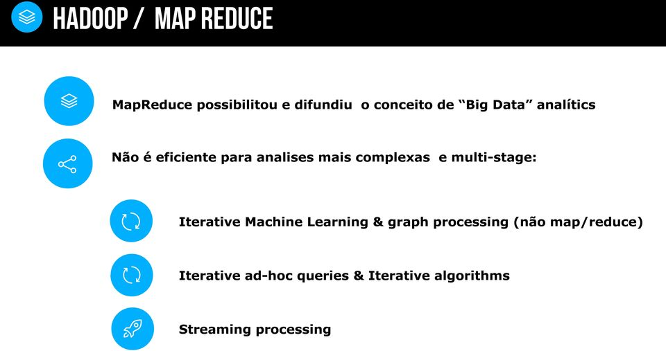 multi-stage: Iterative Machine Learning & graph processing (não