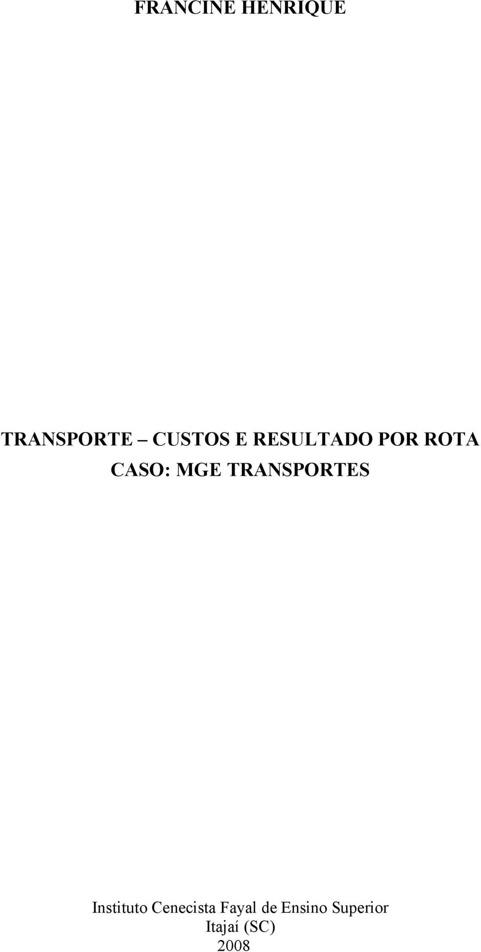 MGE TRANSPORTES Instituto