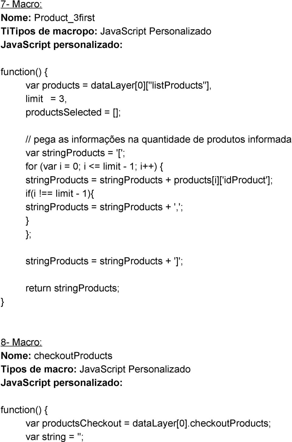 stringproducts + products[i]['idproduct']; if(i!