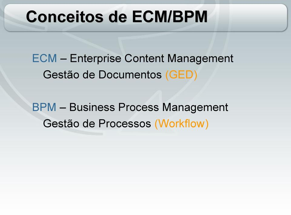 Documentos (GED) BPM Business