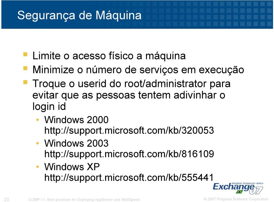 2000 http://support.microsoft.com/kb/320053 Windows 2003 http://support.microsoft.com/kb/816109 Windows XP http://support.