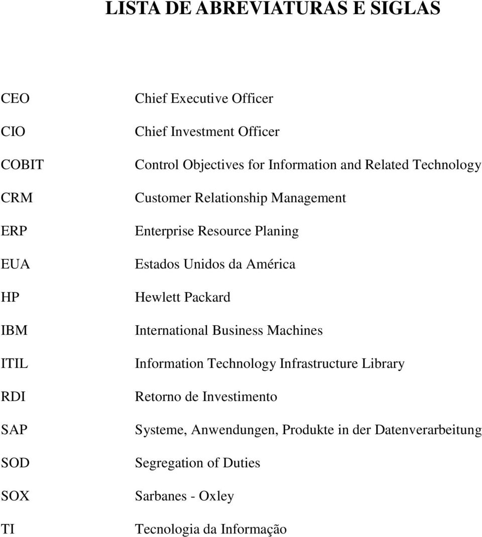 Estados Unidos da América Hewlett Packard International Business Machines Information Technology Infrastructure Library Retorno