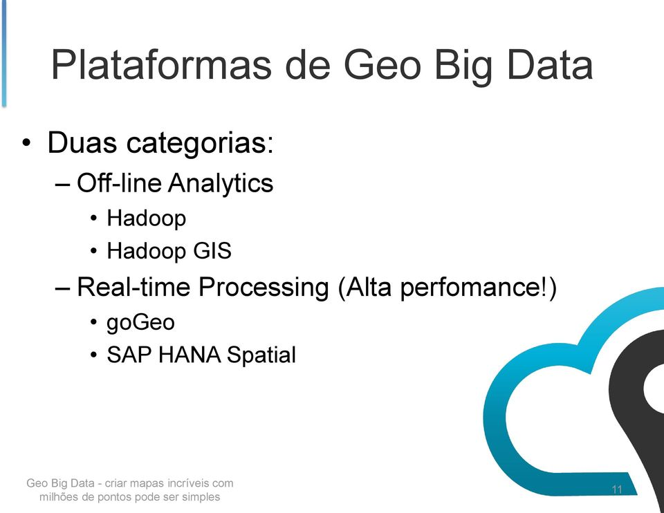 Hadoop Hadoop GIS Real-time