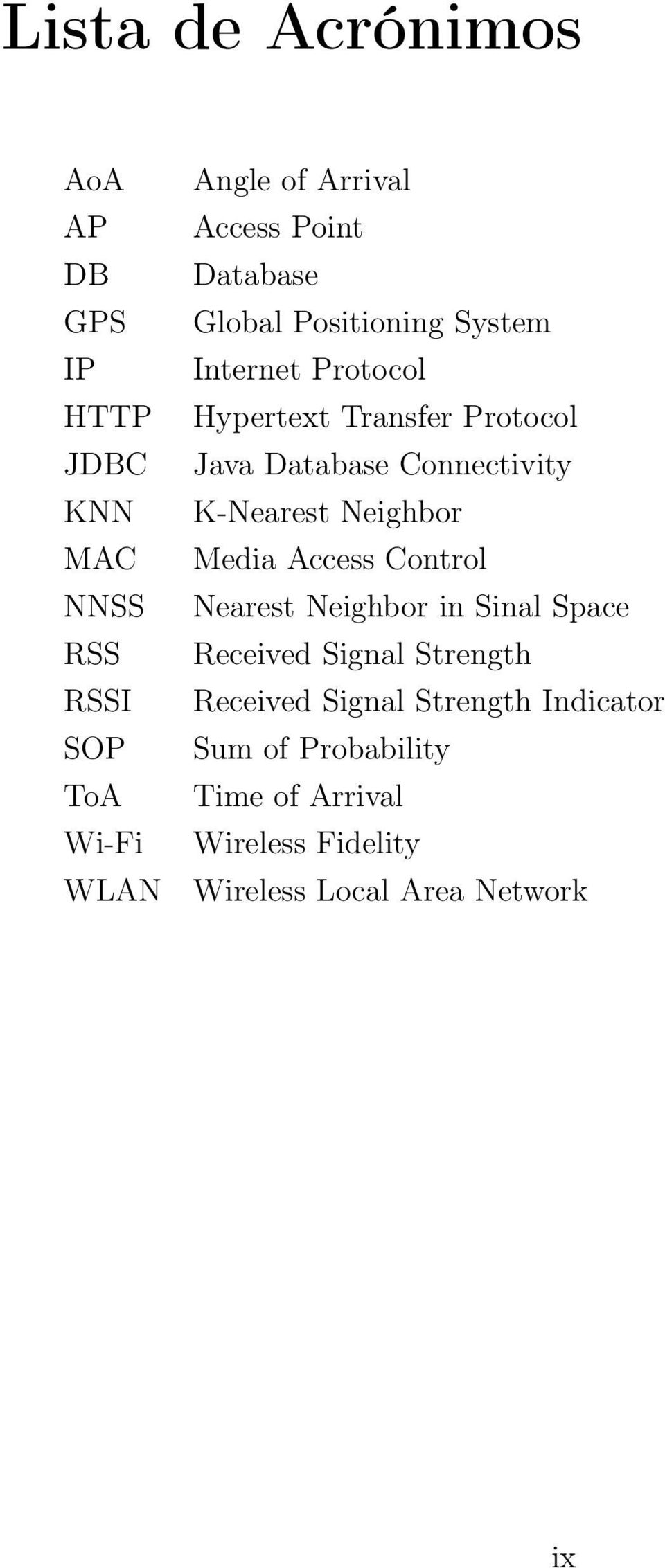Connectivity K-Nearest Neighbor Media Access Control Nearest Neighbor in Sinal Space Received Signal Strength