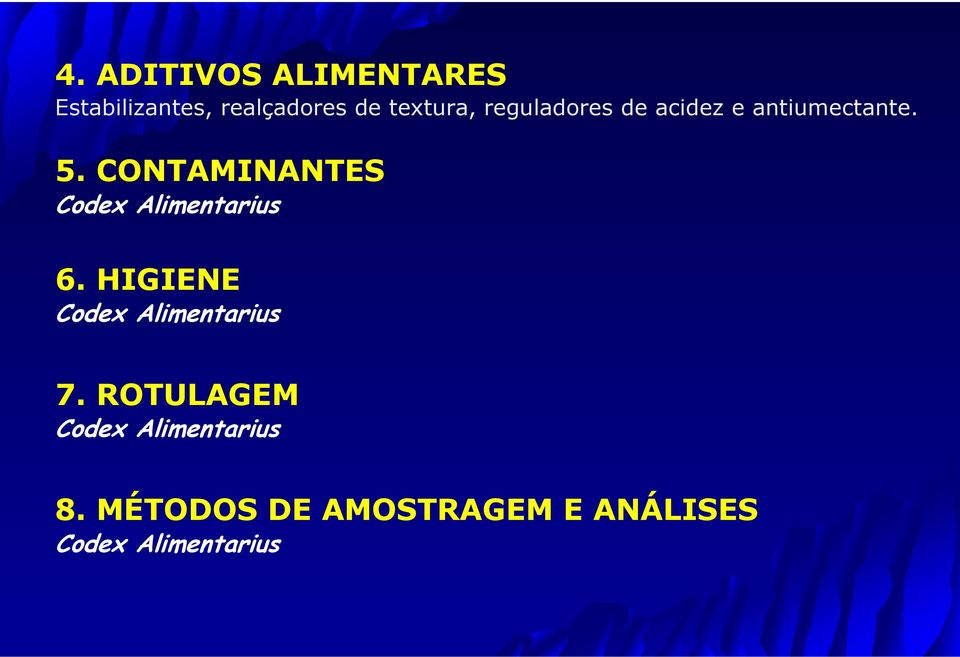 CONTAMINANTES Codex Alimentarius 6.