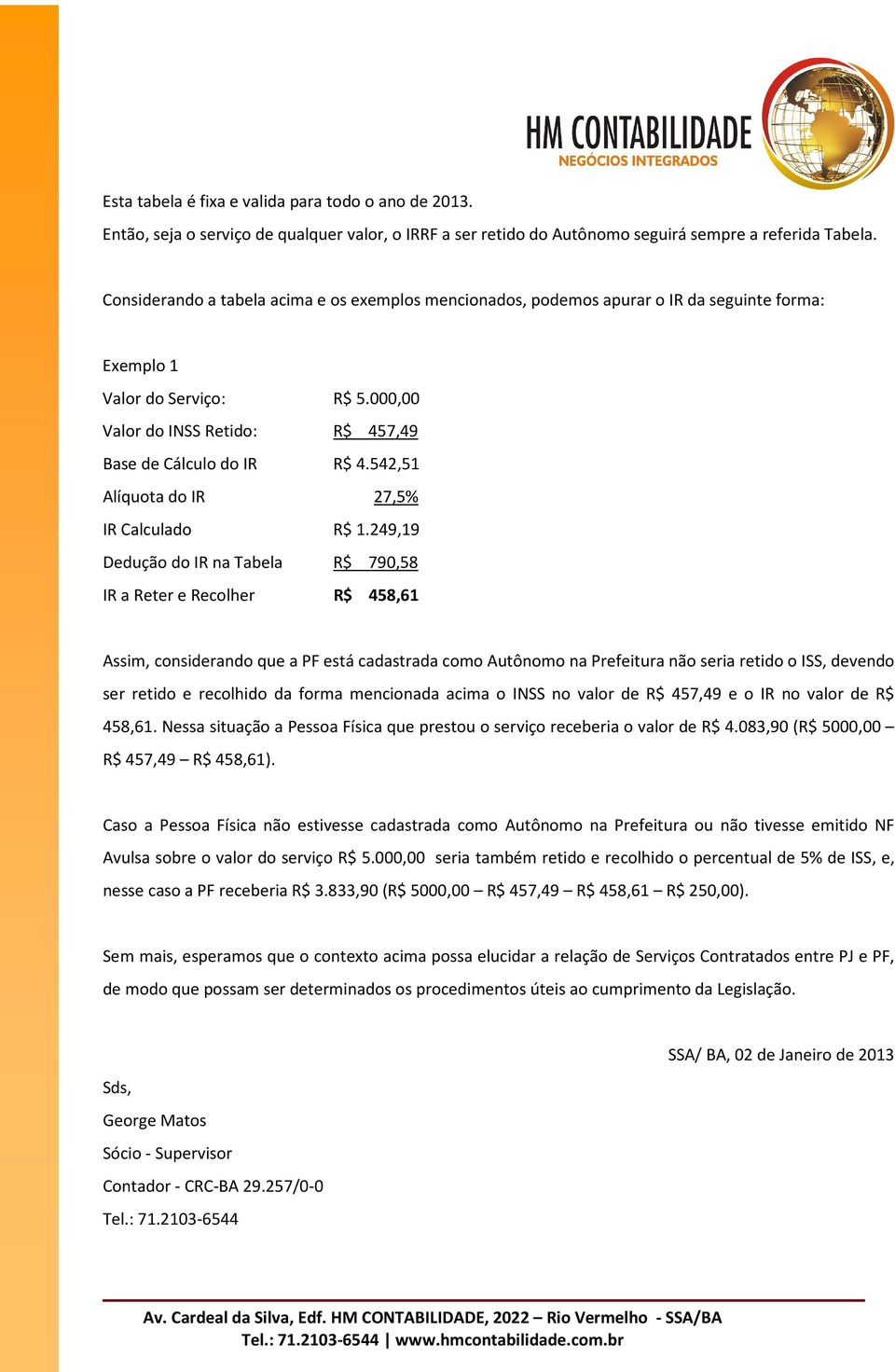 542,51 Alíquota do IR 27,5% IR Calculado R$ 1.