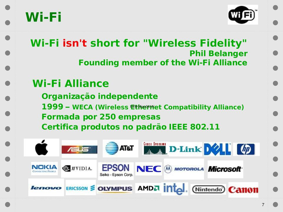 independente 1999 WECA (Wireless ETSI Ethernet HiperMAN