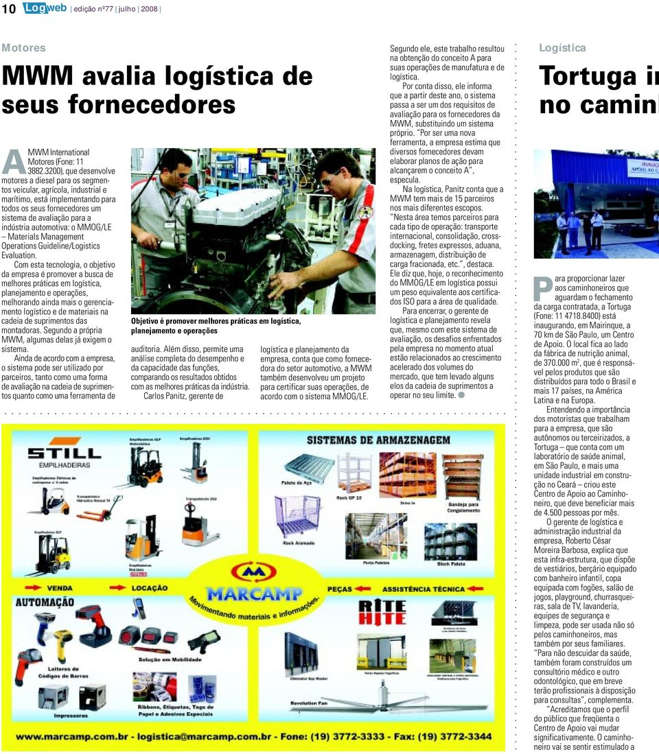 automotiva: o MMOG/LE Materials Management Operations Guideline/Logistics Evaluation.