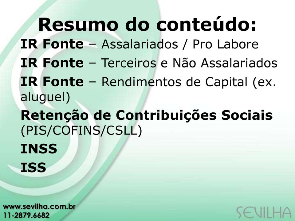 Fonte Rendimentos de Capital (ex.