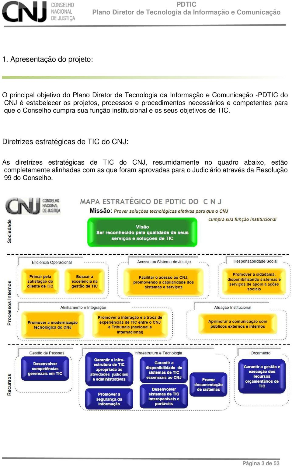 TIC. Diretrizes estratégicas de TIC do CNJ: As diretrizes estratégicas de TIC do CNJ, resumidamente no quadro