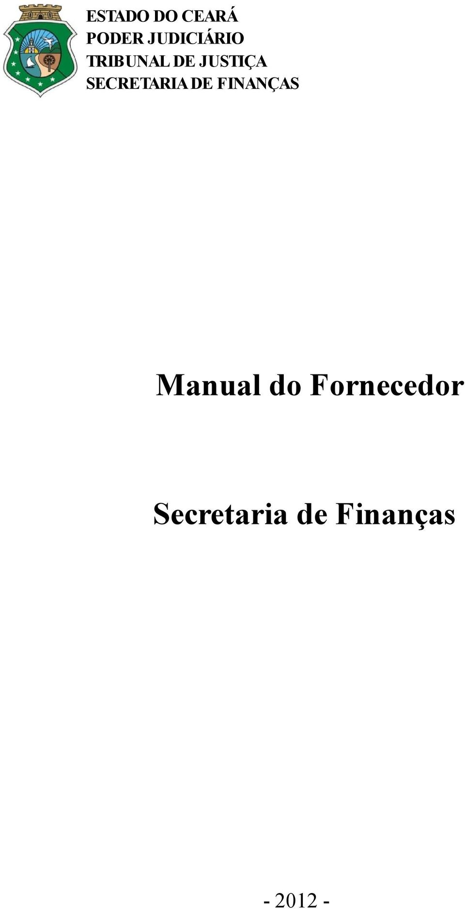 SECRETARIA DE FINANÇAS Manual