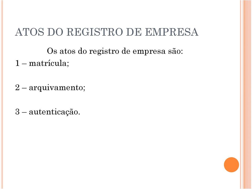 atos do registro de