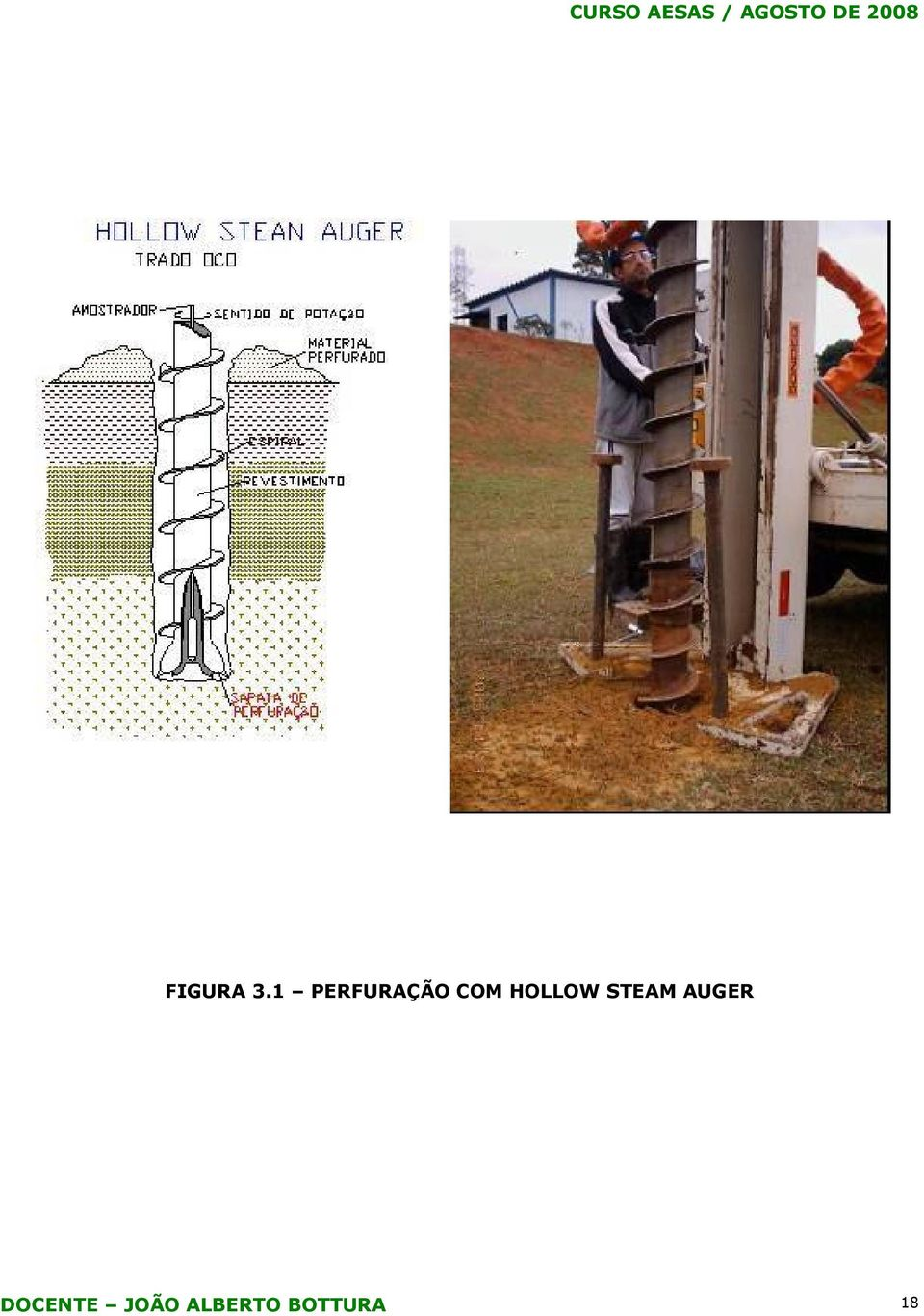 HOLLOW STEAM AUGER