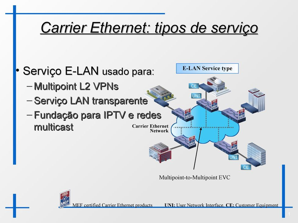 Ethernet Network E-LAN Service type Multipoint-to-Multipoint EVC MEF
